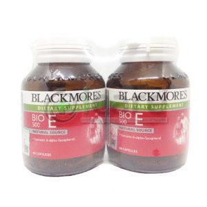 blackmore dietary supplement bio E 500 60capsule x 2