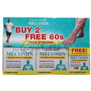 live-well mecomin 500vege capsule